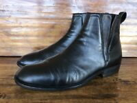 Mens Bally Chelsea Boots Black Soft Leather Size 8.5 D