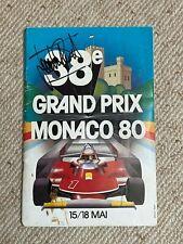 Gilles VILLENEUVE and others: Signed MONACO '80 GP F1 Program, rare autographs