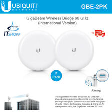 Ubiquiti GigaBeam GBE Wireless Bridge 60GHz Radio w 1+Gbps INTL Version (2-Pack)