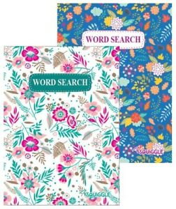 2x Word Search Floral Cover Puzzle Games Books-220 Puzzles A5 Travel Size Books