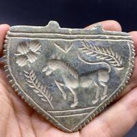 Near Eastern antique unique stone intaglio old pendant