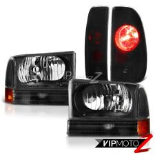 Satin Black Headlamps Taillight Smoke Tinted 1999-2004 Ford F250 Harley Davidson