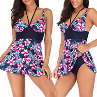 Plus Size Waist Hip Women Bikini Lady Push up Beach Bandage Tankini Swimsuit NEW