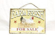 """Tin Sign 15.75 X 11"""" Farm Fresh Eggs For Sale"""""""