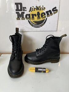 Dr. Martens Pascal Comfy Black Leather Boots Size UK 4 EU 37