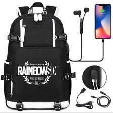 Rainbow Six Siege canvas Backpack School bag USB Charge bag music Travel Bags