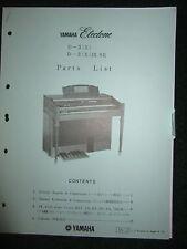 Yamaha Electone D-3(X)  D-3(X)IR.SR Part List Catalog Manual D3X D3XIRSR 1975