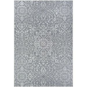 """Couristan Palmette Grey-Ivory In-Out Rug, 2' x 3'7"""" - 23294716020037T"""