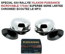 PROMO! KLAXON DOUBLE 4X4 170db!!! JEEP LAND RANGE DEFENDER HDJ KDJ NAVARA L200