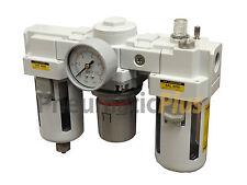 "3/4"" NPT Compressed Air Preparation Unit Filter Regulator Lubricator Combo FRL"