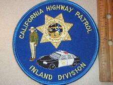 CHIPS CALIFORNIA HIGHWAY PATROL INLAND  DIVISION POLICE TROOPER PATCH