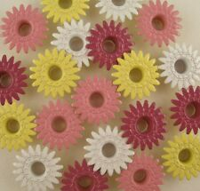Scrapbooking Eyelets Daisy 20 pcs Crafts 4 Clrs Pink Yellow White Daisies Spring