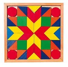 Holzpuzzle Legespiel goki Mosaik Puzzle Setzpuzzle Holz Legepuzzle Einlegemosaik