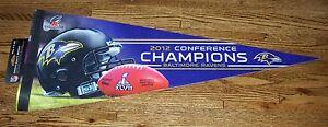 Baltimore Ravens AFC Champions premium pennant champs SB Super Bowl 47 XLVII