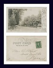 NEW YORK LE ROY EAST MAIN STREET REAL PHOTO POSTED 1906 TO C.L. RECK, PIQUA OHIO