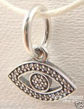 SYMBOL OF INSIGHT Authentic PANDORA Silver/CZ EVIL EYE Dangle/Pendant/Charm NEW