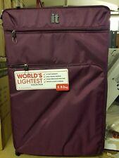 It Luggage World's Lightest Suitcase Aubergine Large 4 Wheel 83cm