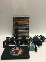 Sony PlayStation 2 Slim Console Black with Controller Games and Memory Card