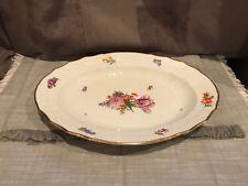 Royal Copenhagen 1221 Saxon Flower Oval Serving Plate #1555
