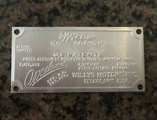 JEEP WILLYS OVERLAND SERIAL NUMBER DATA PLATE, Original New Old Stock NOS