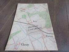 GRAND PLAN MANUSCRIT 1890 MERCY JURY CHESNY FRONTIGNY MOSELLE