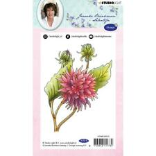 New Studio Light Janneke Brinkman A6 Rubber Stamp #10 dahlia FLOWER free US ship