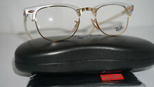 RAY BAN Frame RX Eyeglasses New CLUBMASTER Transparent Gold RX5154 5762 49 140