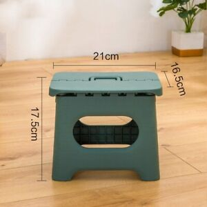 Plastic Step Stool Folding For Kids And Adults With Handle Sturdy Lightweight