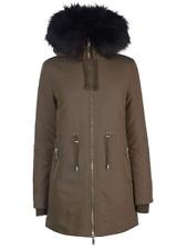 Firetrap Women's Parka Hooded Coat Fuex Fur Hood Khaki Size UK S *REF99