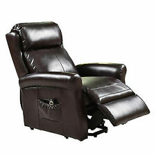 US Electric Luxury Power Lift Recliner Chair Livingroom Leather Lazy Affordable