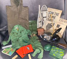 Vintage Lot Of 1960s Hasbro GI Joe Jacket ~Poncho~Weapons~Clothing~Accessories~