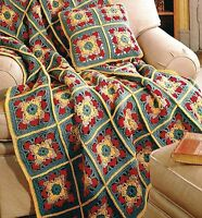 BEAUTIFUL Autumn Leaves Afghan Set/Crochet Pattern INSTRUCTIONS ONLY