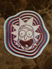 Rick And Morty TV Cartoon 3D Trippy Rick Sticker