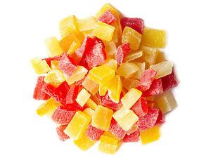 Diced Fruits Mix - Mango, Pineapple, Papaya, Kosher, Raw, Vegan - Food To Live®