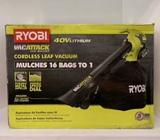 RYOBI Cordless Leaf Blower/Vacuum/Mulcher 40V Lithium-Ion 4.0 Ah Battery Charger