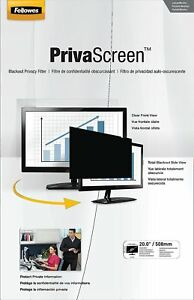 Fellowes PrivaScreen Privacy Filter for 21.5 Inch Widescreen Monitors 16:9 New