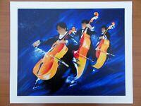 Victor SPAHN : Concert trio de contrebasses  # SERIGRAPHIE SIGNEE et N°# MUSIQUE