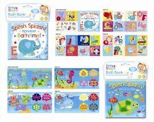 Pack of Two Floating Bath Book Educational & Fun Bath Toy for Baby Splish Splash