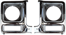 79-80 Chevy C10 Truck LH & RH Chrome Headlight Bezels (Pair)