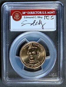 NQC Mint Error 2010 $1 Millard Fillmore w/ Moy Sig., Missing Edge Lettering MS65