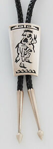 Native American Handmade Indian Jewelry Hopi Silver Snake Dancer Bolo Tie