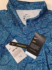 New listing L Nike Dry Fit UPF40  Golf BV0162  womens  green dots shirt Polo UV  NWT $65