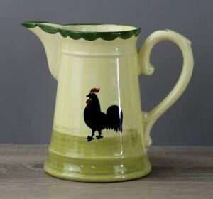 Zeller Keramik Hahn und Henne Krug Saftkrug Milchkrug Kanne Höhe ca. 14 cm TOP