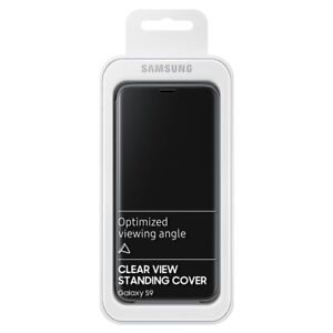 Official GENUINE  SAMSUNG Galaxy S9 Clear View Standing Cover - Black