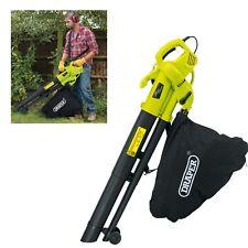 Draper 3000W Electric Garden Leaf Grass Mulcher Blower Hoover Vacuum Vac 35L Bag