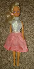 Lovely Sindy Doll, Blonde Hair & blue eyes ~ Vintage? Iridescent Dress & ribbon