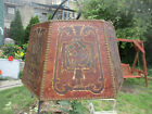 VINTAGE Art Deco Art Nouveau Mission Leather Lamp Shade NUDE LADY for Floor Lamp