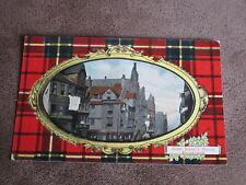 Art Publishing postcard - Clan / Tartan border -John Knox's house - Edinburgh