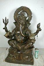 Alter Bronze Ganesha Buddha hochwertiges UNIKAT Thailand  ~1960  Plombe 8kg 40cm