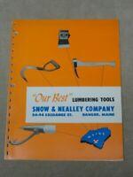 Vntg Snow & Nealley Co Catalog Axe Hatchet Bark Spud Picaroon Logging Tools